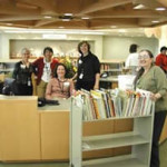 Photo of Kids Library with staff