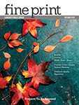 Autumn 2019 Fine Print Cover
