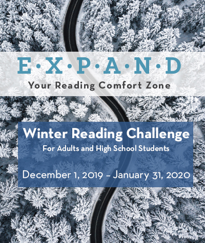 Expand your reading comfort zone adult winter reading challenge
