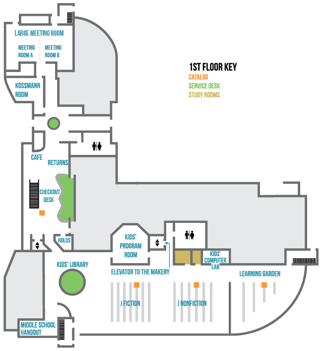 first floor library layout
