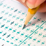 Test answer form and pencil