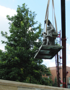 Relocation of Eliscu Statue