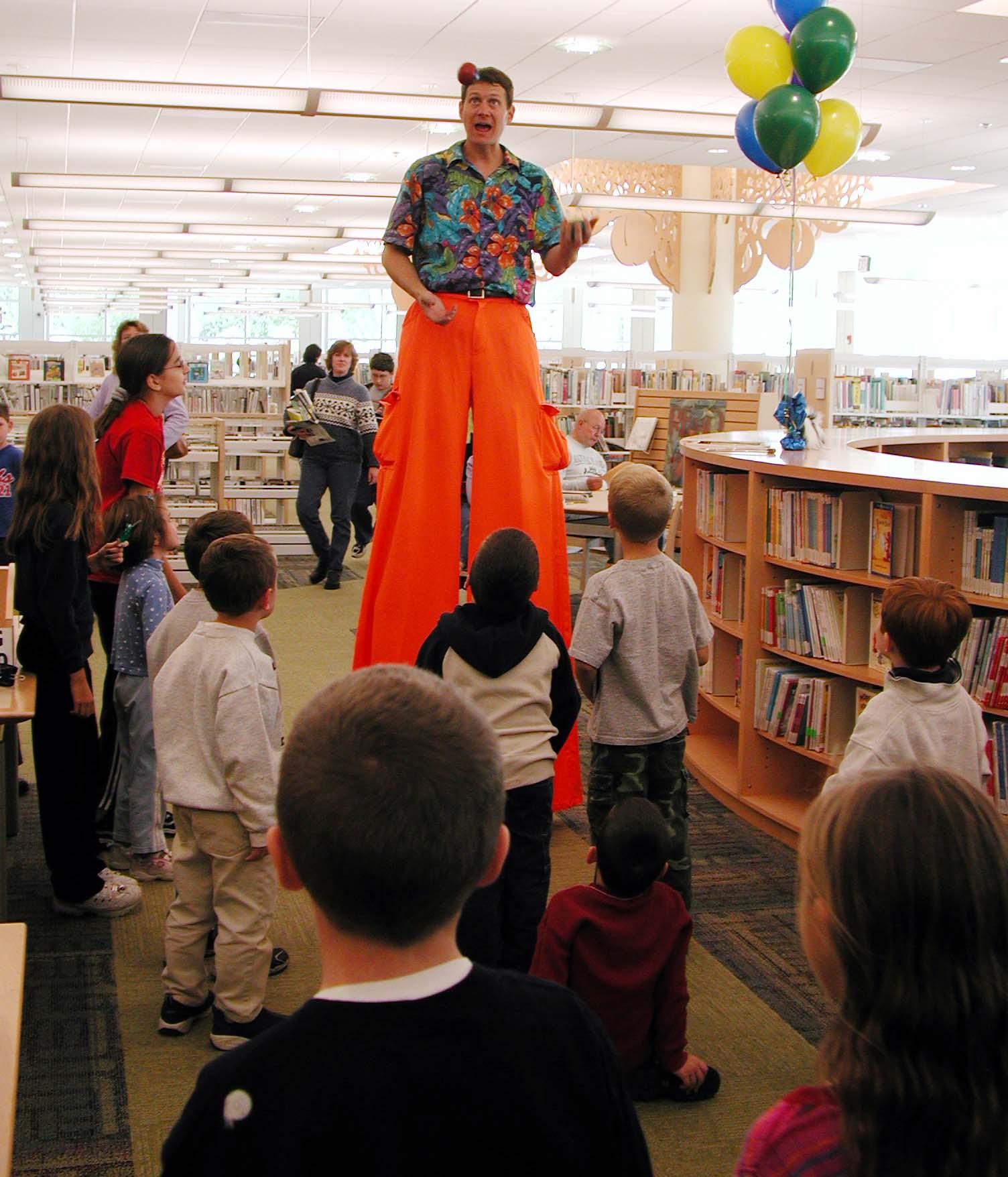 juggler in kids library