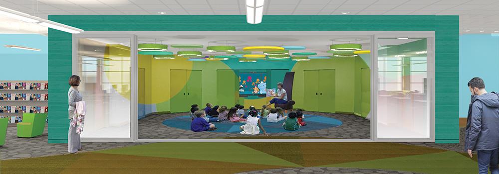 kids renovation new storytime room