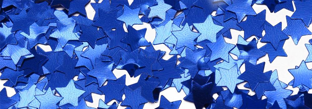 blue star confetti