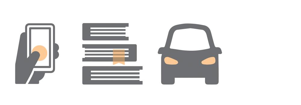 phone books car icons