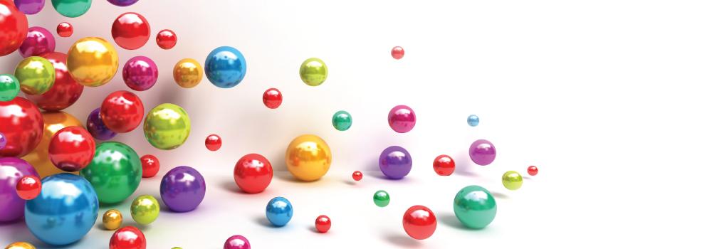colorful bouncing balls