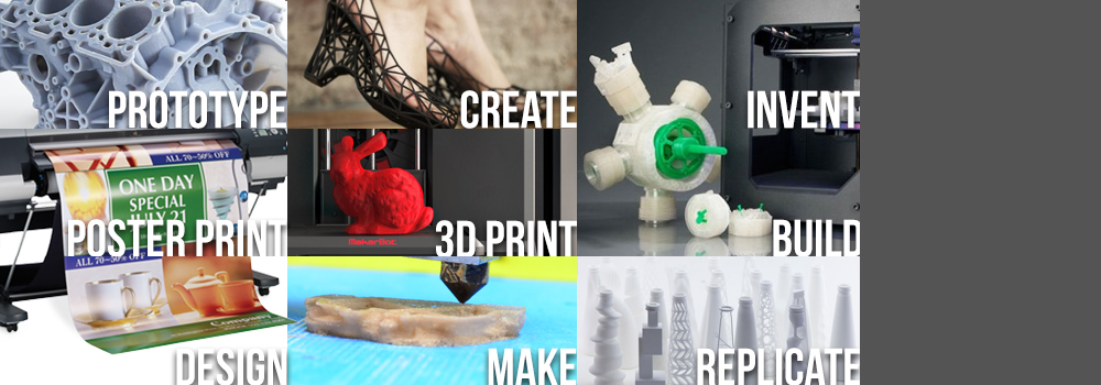 prototype create invent poster print 3d print build design make replicate tile for poster printer and 3d printer