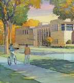 Watercolor Rendering of New Building