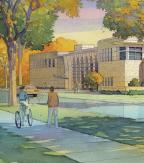 Watercolor Rendering of New Building